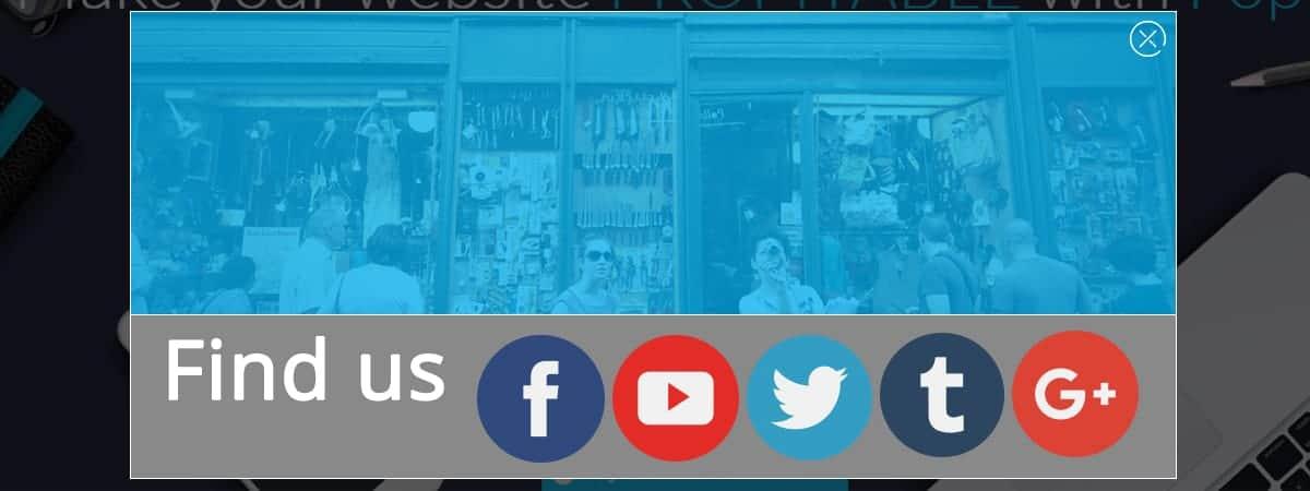 Popup Maker - Social buttons