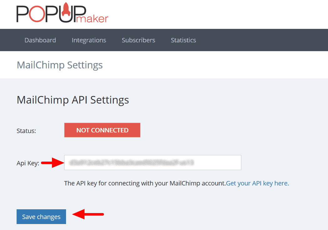 Popup Maker - MailChimp