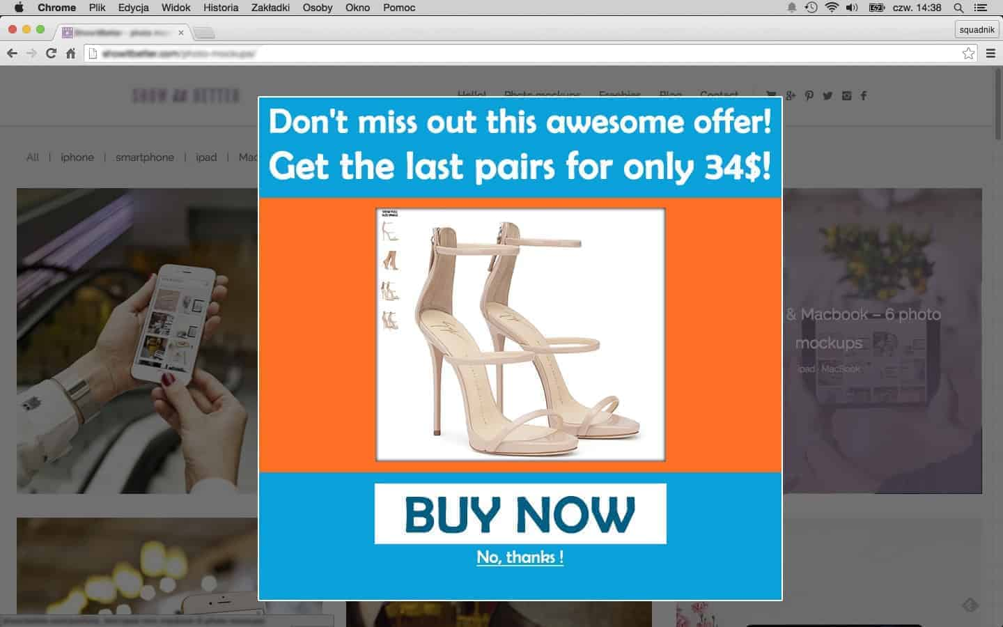 Awesome offer popup, popup mistakes