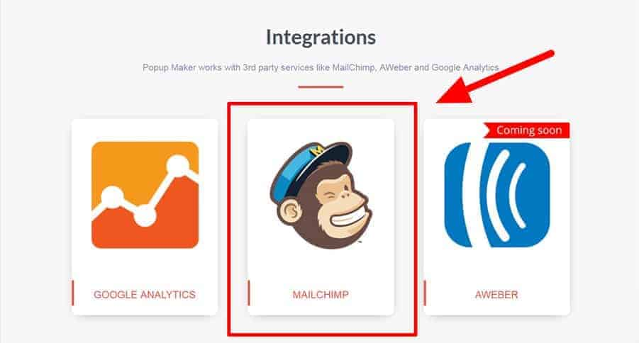 Select Mailchimp Popup Extension