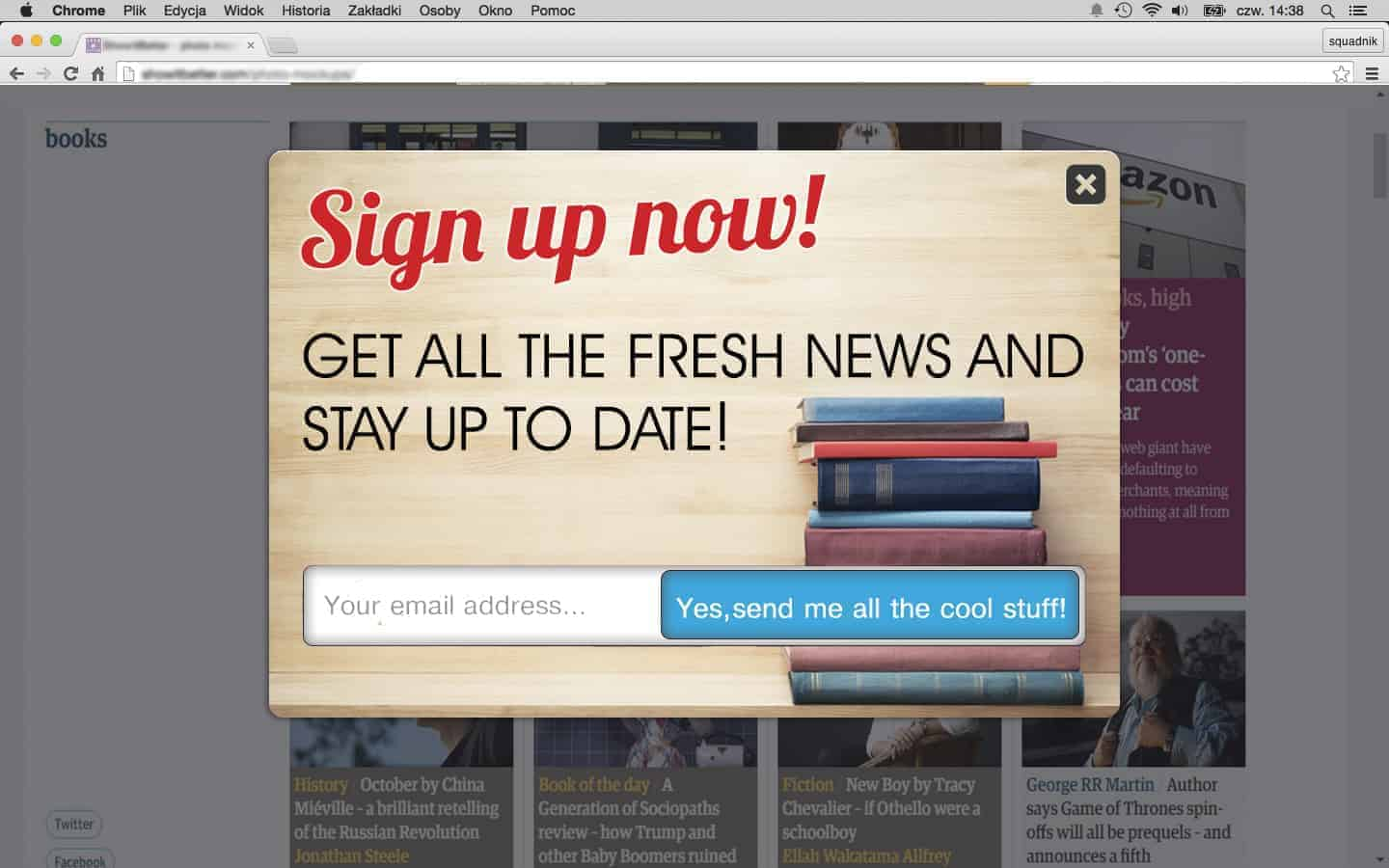 Sign up popup mistakes