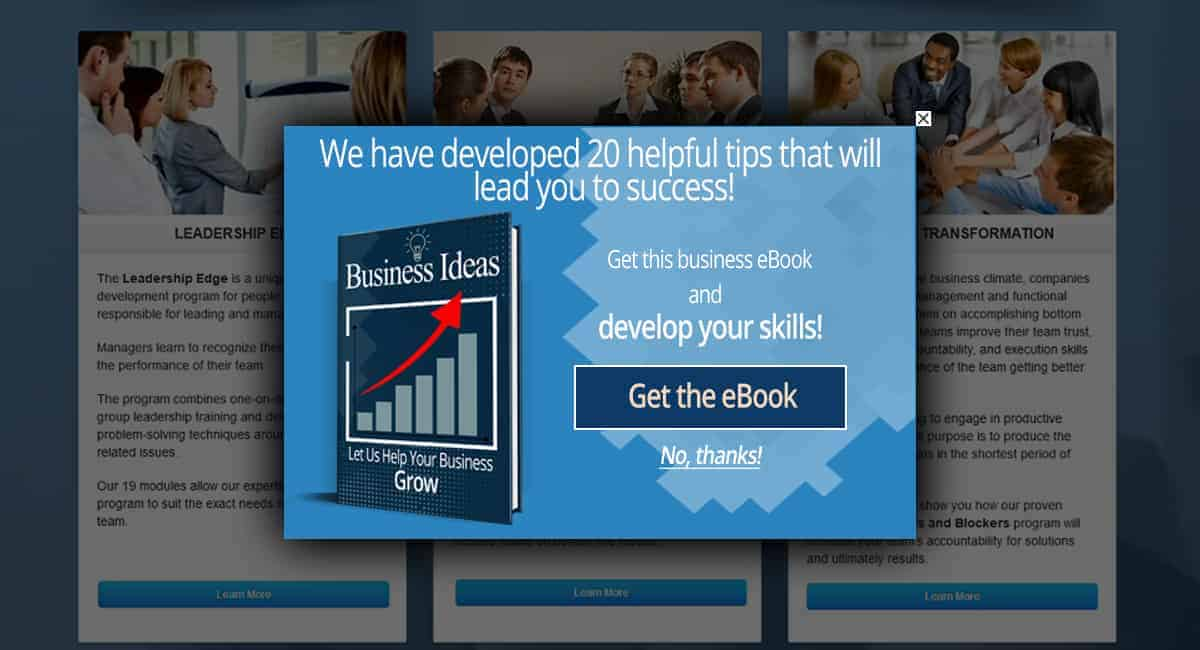 Popup Maker - Ebook Popup