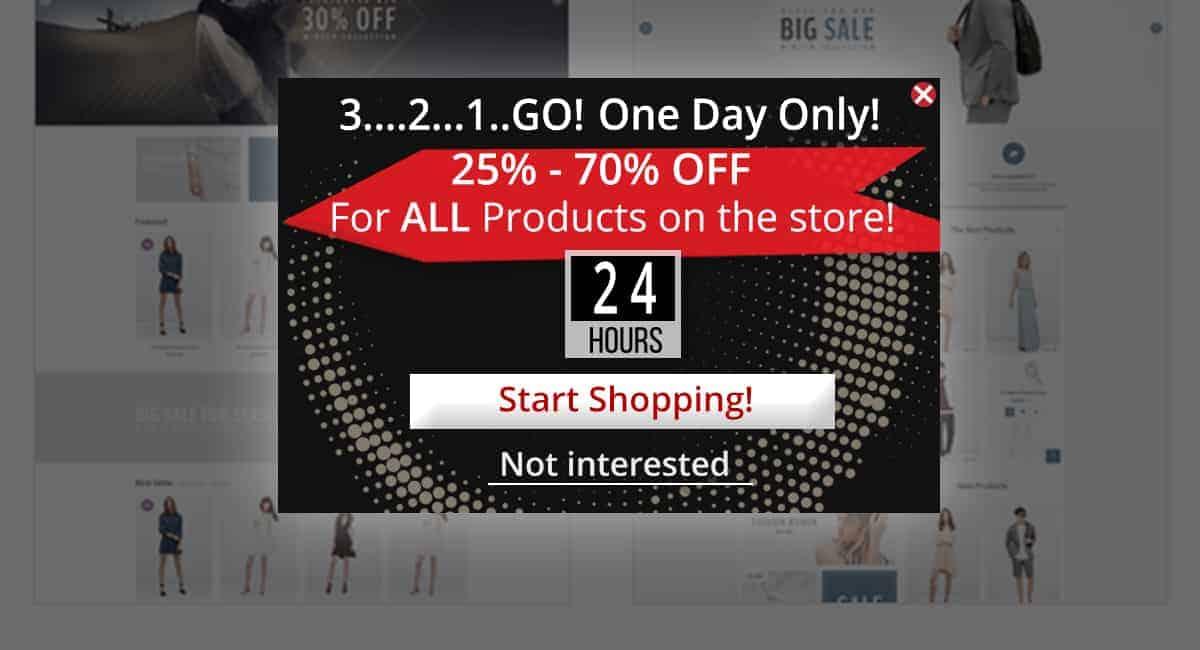 Popup Maker - Shopping Popup
