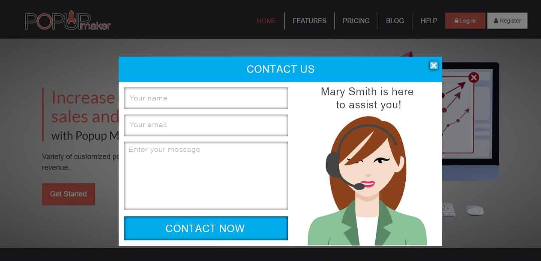 Popup Maker -Contact form