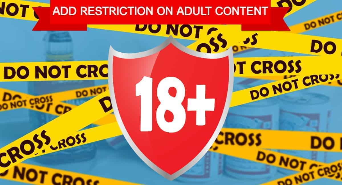 Age Restriction Popup Banner