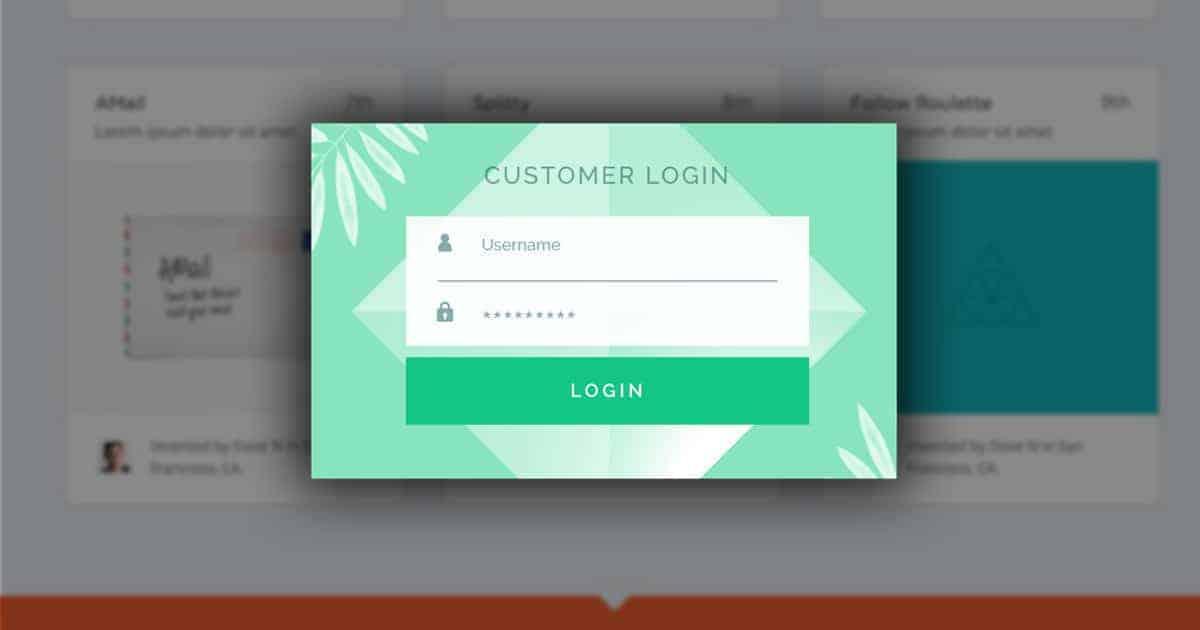 Gating popups customer login