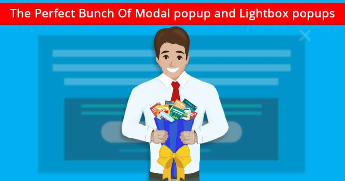 Modal popup and lightbox popup banner