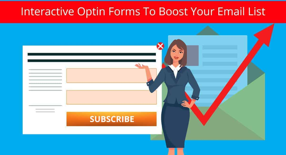 email list optin forms banner