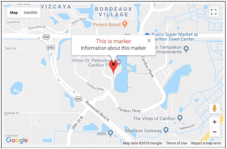 google map integration market information