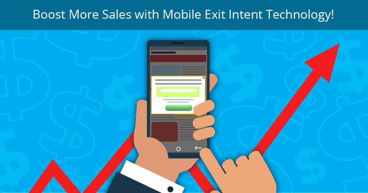 mobile exit intent technology banner