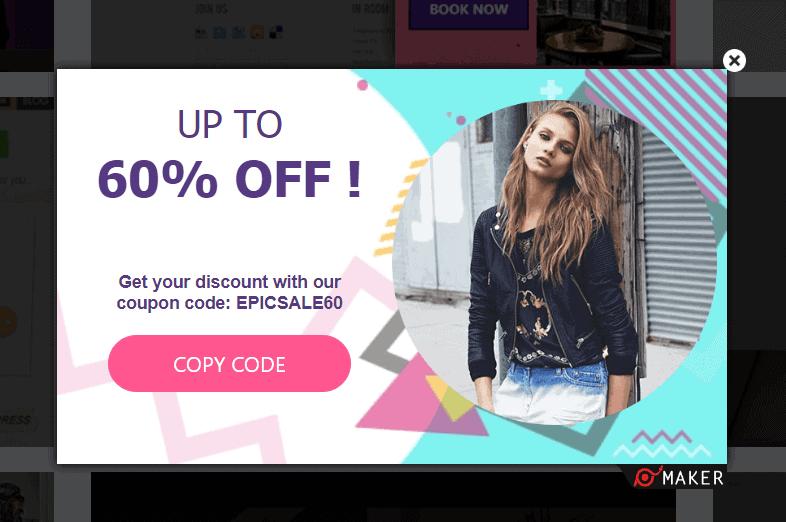 Discount popup 60