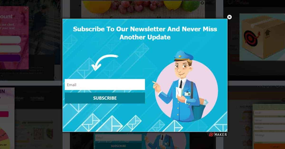 newsletter subscription popup