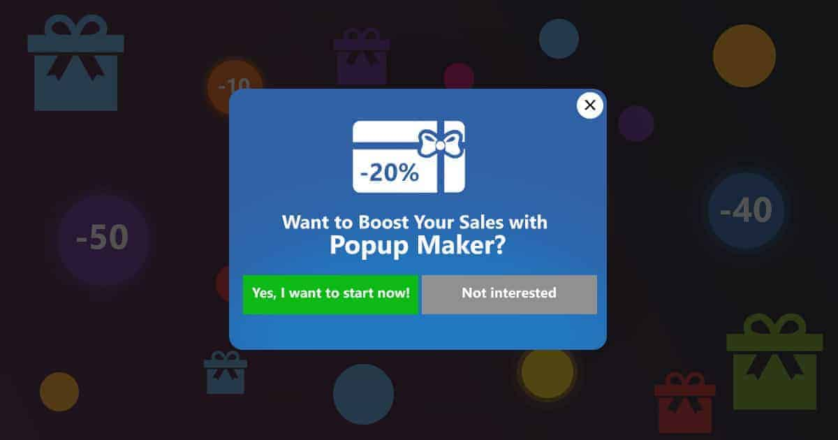 boost sales popup