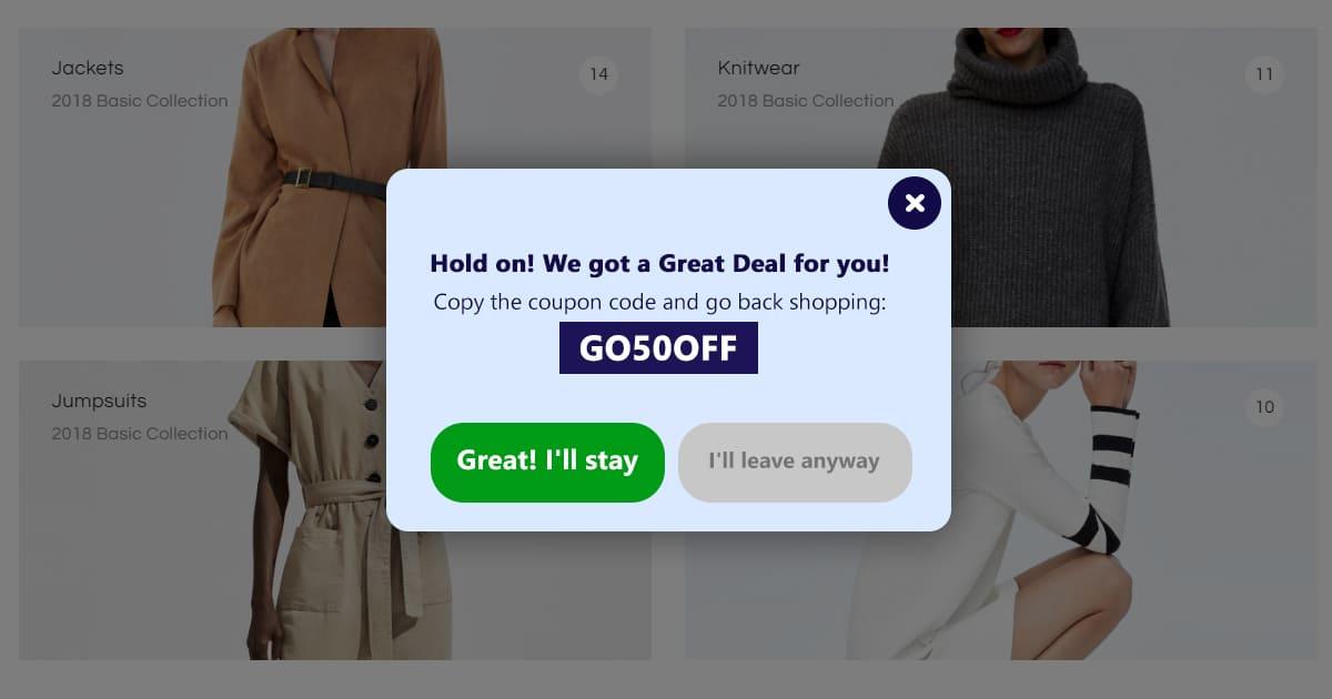 great deal popup