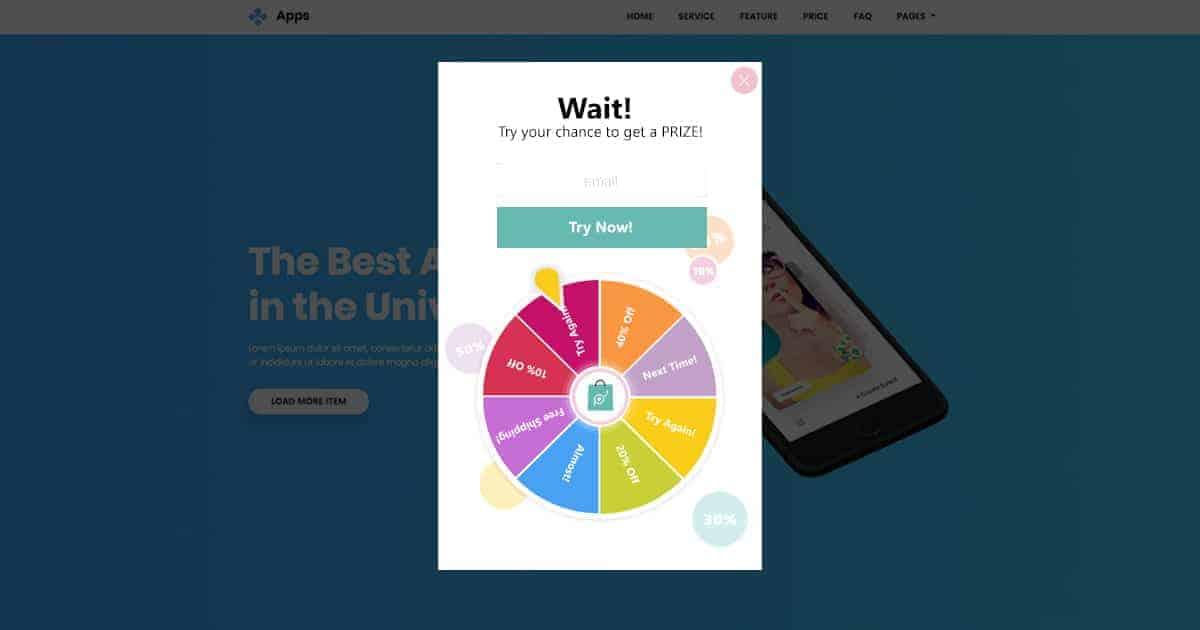 Spinner+Subscription popup - Popup Maker