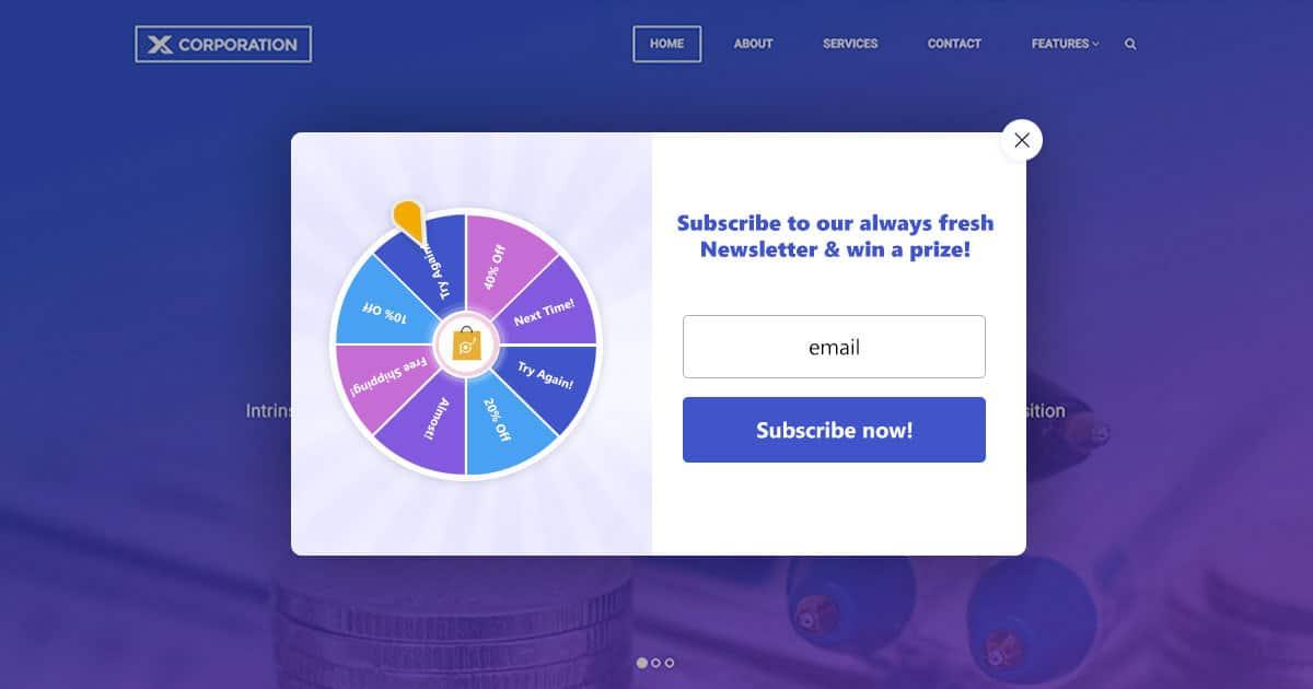 Subscription Spinner - Popup Maker