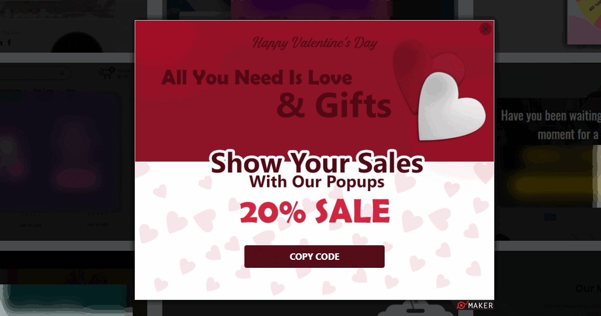 coupon popups gift