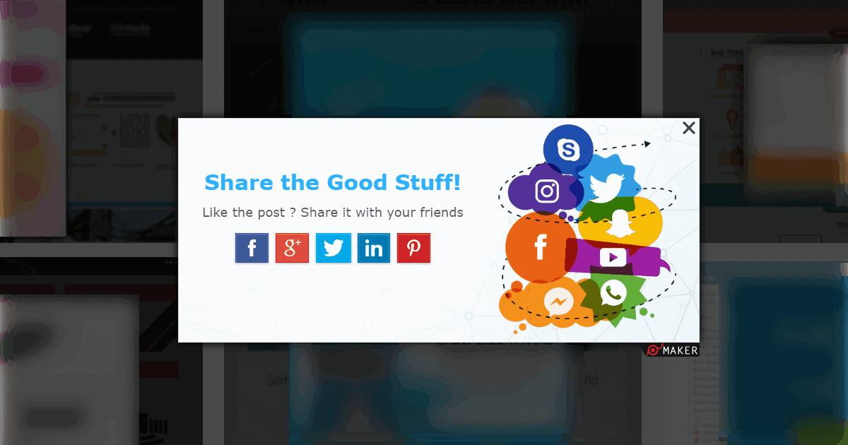 4. Social sharing - Popup Maker