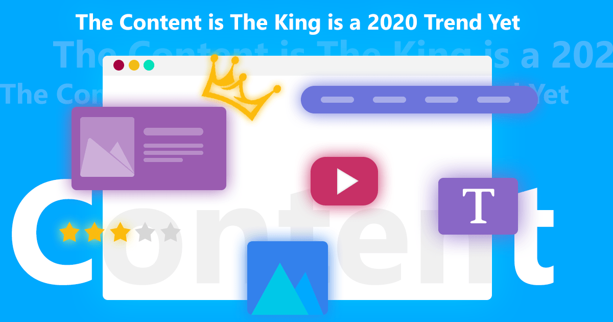 The Content Is The King Banner