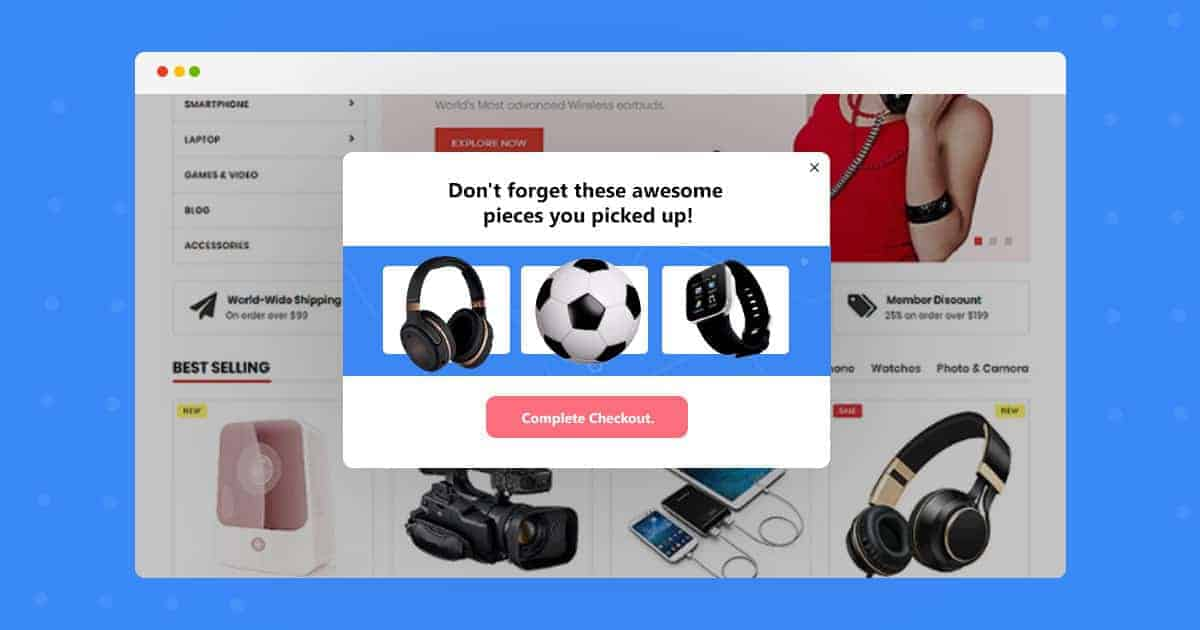 Popup Maker - Reduce cart abandonment via reminder popups