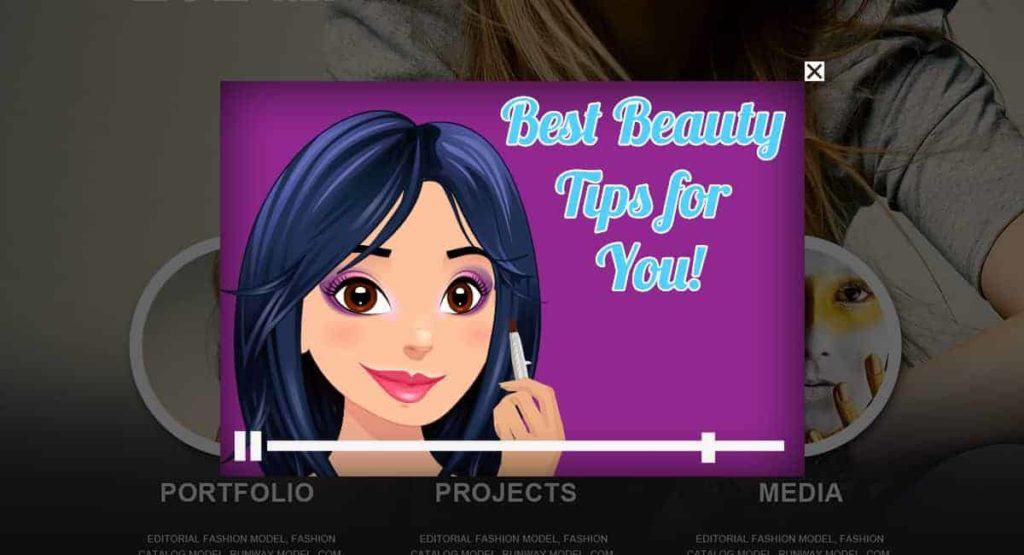 Beauty Tutorial Video Popup