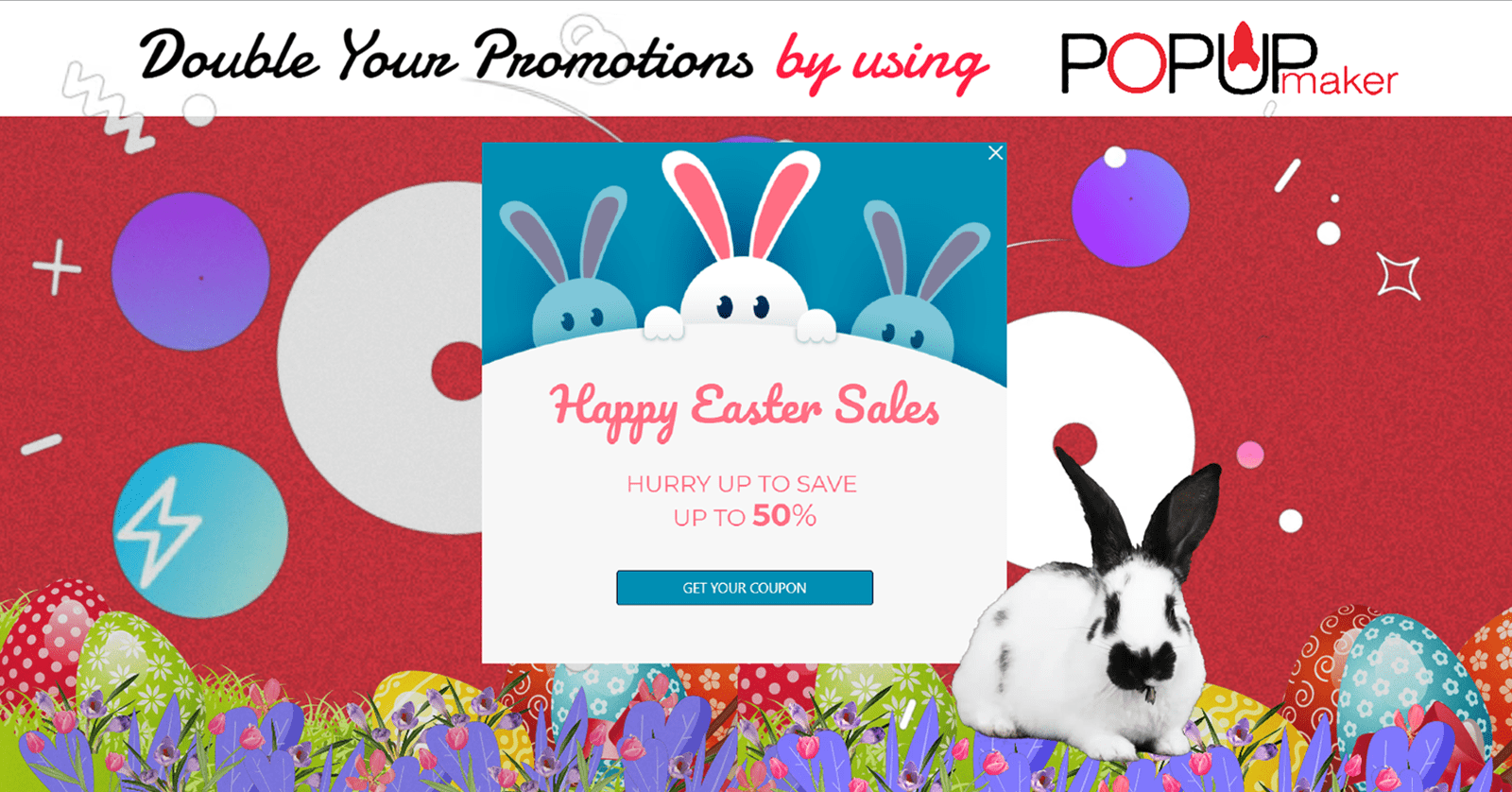 Easter marketing popup ideas banner