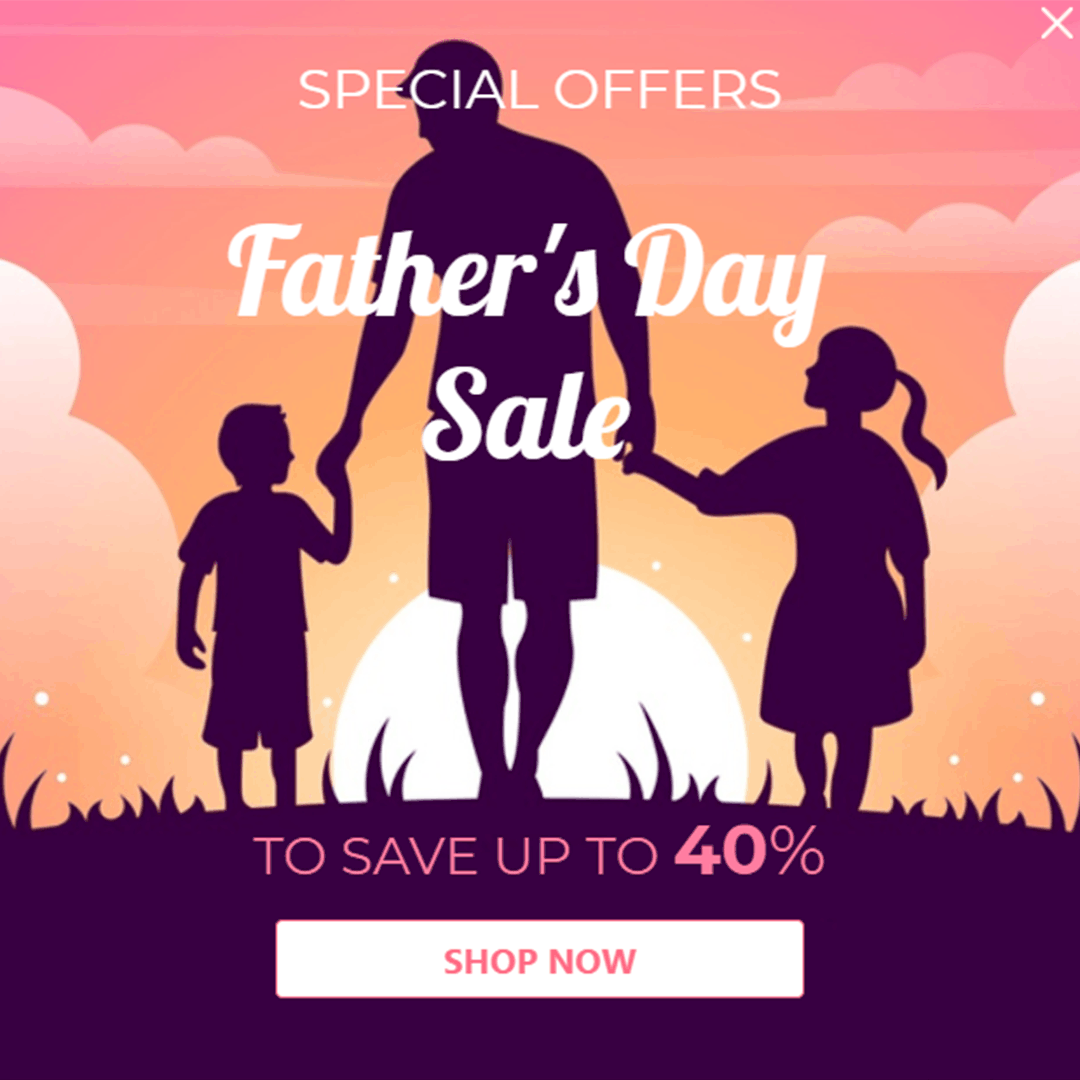 Father's day popup
