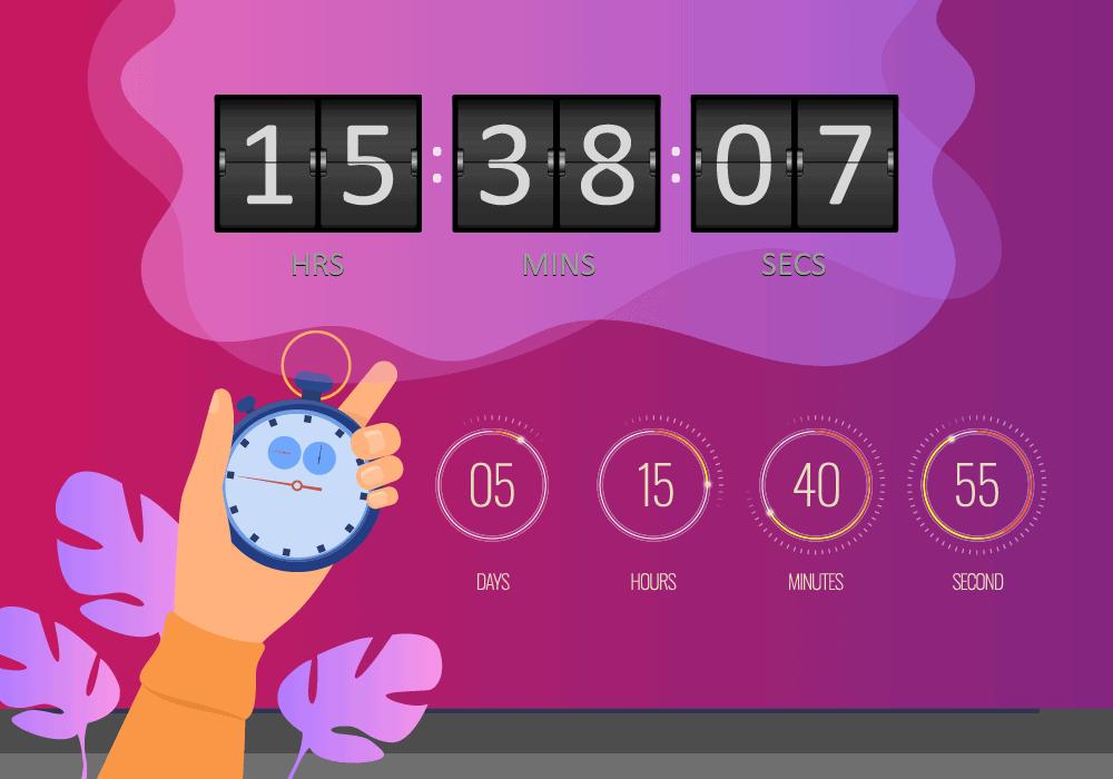 Countdown floating bar