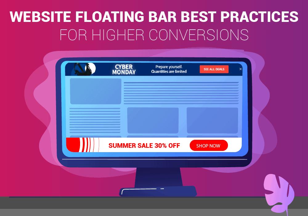 Website floating bar
